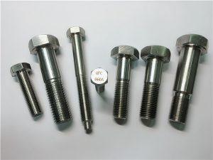 No.25-Incoloy a286 šesťhranné skrutky 1.4980 a286 upevňovacie prvky gh2132 hardvérové upevnenie skrutiek z nehrdzavejúcej ocele
