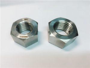 Č. 76 Duplex 2205 F53 1.4410 S32750 z nehrdzavejúcej ocele, ťažká šesťhranná matica