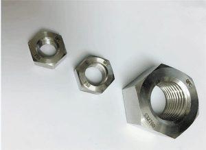 Duplex 2205 / F55 / 1.4501 / S32760 spojovacie prvky z nehrdzavejúcej ocele, ťažká šesťhranná matica M20
